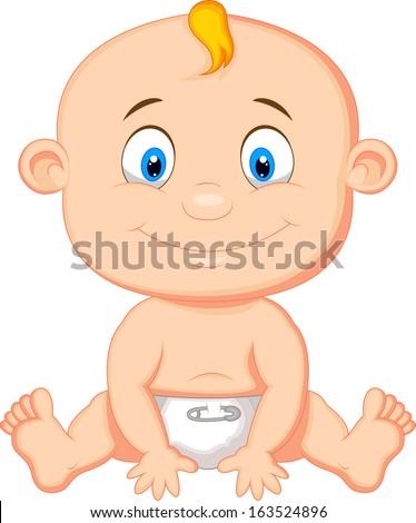 Baby boy cartoon - stock vector