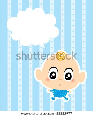baby boy message stock vector 58832977 shutterstock