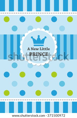 baby boy shower card. vector illustration - stock vector