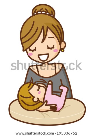 Baby breast milk - stock vector