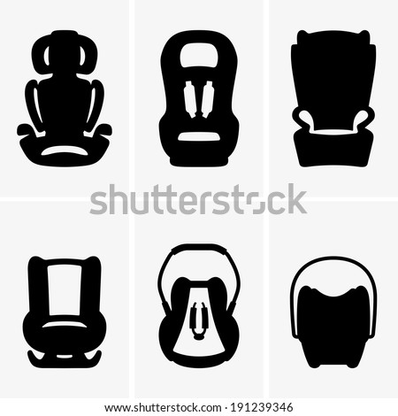 Baby car seats - stock vector