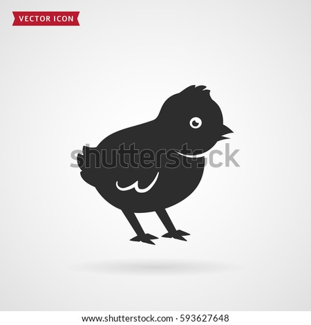 baby chick icon isolated on white background vector illustration