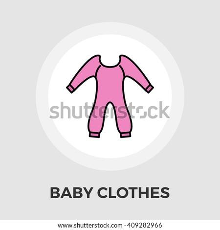 Baby Clothes Icon Vector.  - stock vector