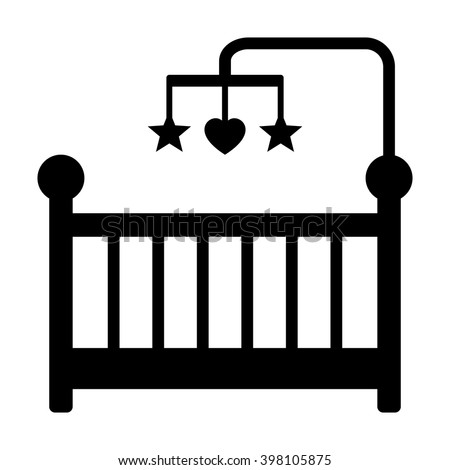baby crib infant bed hanging toys stock photo photo vector rh shutterstock com clipart silhoutte baby crib clipart silhoutte baby crib