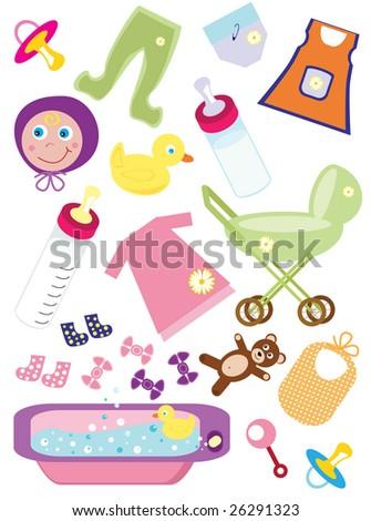 Baby Design Elements - vector illustration - stock vector