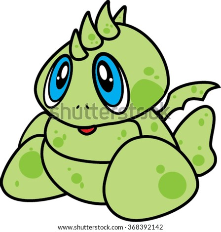 baby dragon  isolated illustration - stock vector