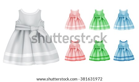 Baby dress blank template.