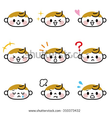 Baby face icon - stock vector