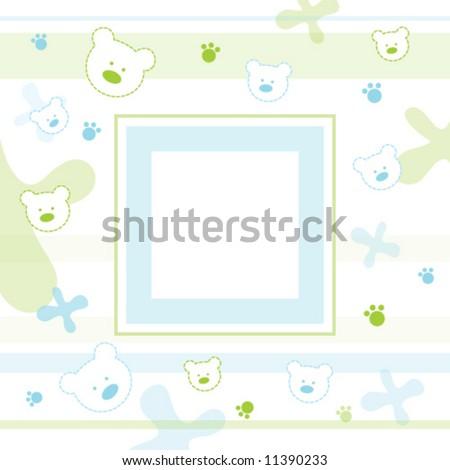 Baby frame - stock vector