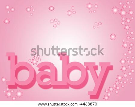 Baby girl - stock vector