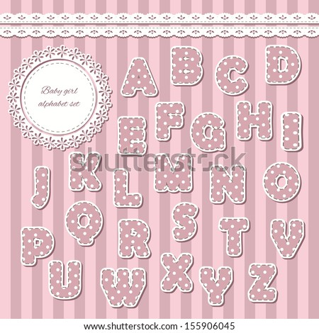 Baby girl abc letters can be stock vector hd royalty free baby girl abc letters can be used for baby shower greeting cards scrapbook m4hsunfo