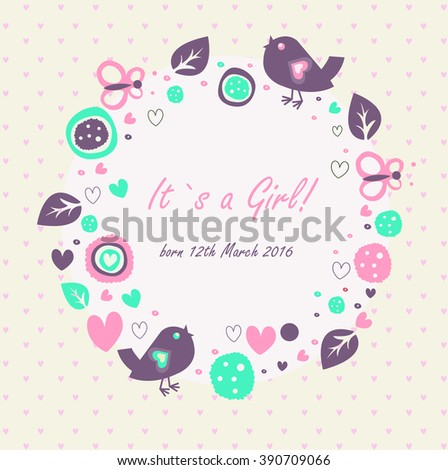 Baby Girl Announcement Stock Images, Royalty-Free Images & Vectors ...
