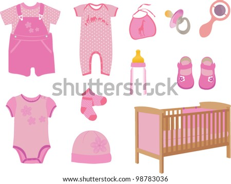 Baby girl fashion - stock vector