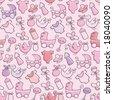 Baby Girl Pattern - stock vector