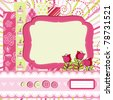 Baby girl Scrap background. - stock vector