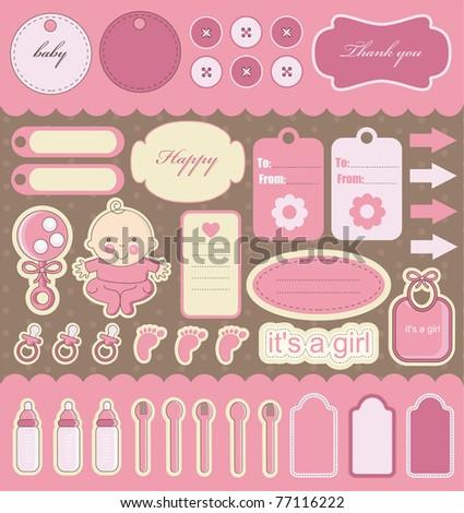 Baby Girl Scrapbook Backgrounds Baby Girl Scrapbook Elements