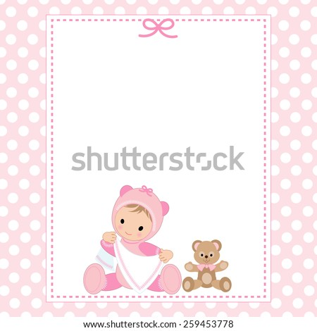 baby girl shower invitation card stock vector royalty free