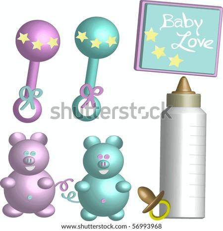 Baby Goodies - stock vector