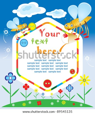 baby greeting card or invitation