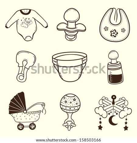 Baby icon Collection - stock vector