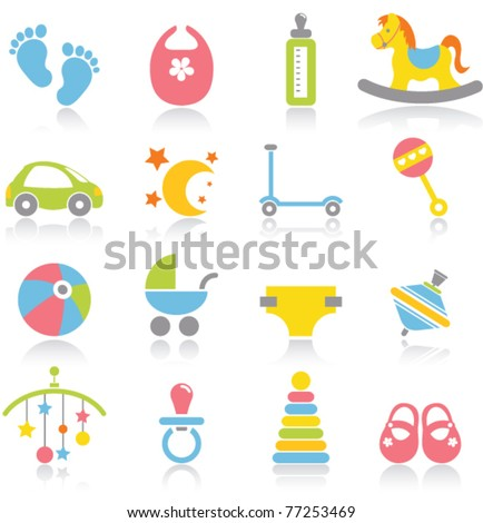 Baby icons - stock vector
