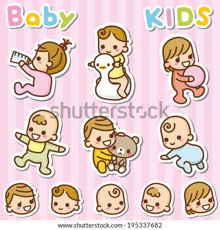 Baby illustration - stock vector