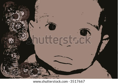 baby illustration - stock vector