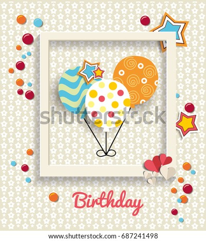 Baby invitation card happy birthday background stock vector baby invitation card happy birthday background design template poster happy birthday stopboris Gallery