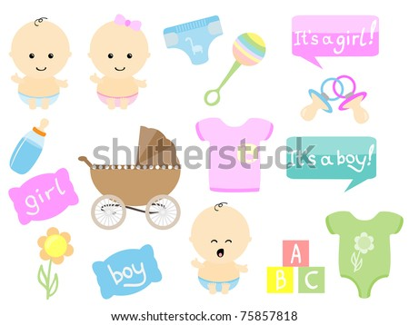 Baby items Stock Photos, Baby items Stock Photography, Baby items