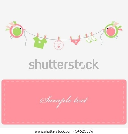 Baby laundry - stock vector