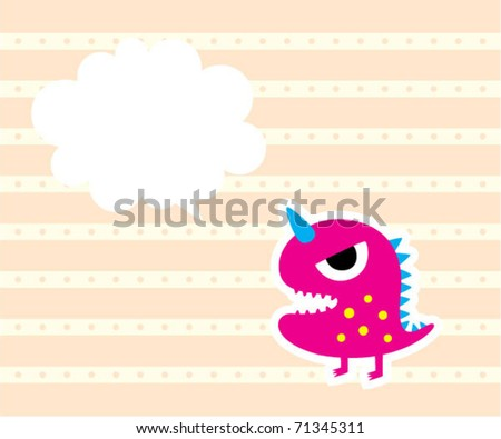 baby little dinosaur message tag