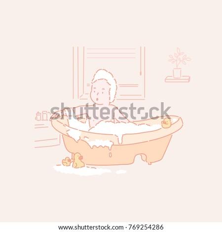 Cartoon Bath Tub Stock Images Royalty Free Images