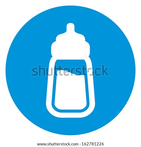 baby milk bottle icon - stock vector