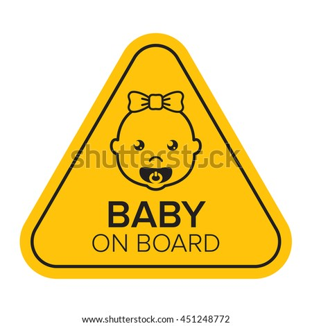 Baby on board sign / sticker / badge