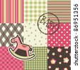 Baby patchwork pattern, vector - stock vector