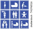 baby => pictogram - icon - symbol - stock photo