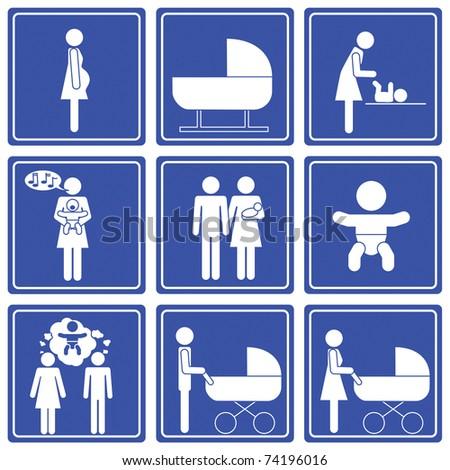 baby => pictogram - icon - symbol - stock vector