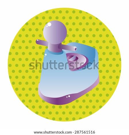 baby potty theme elements  - stock vector