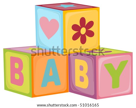 Baby's letter cubes toys (EPS10)