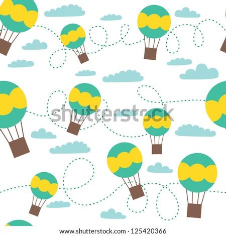 baby seamless pattern design. vector illustration - stock vector