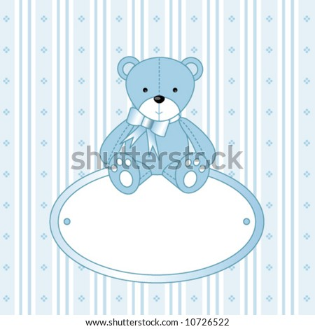 Baby Shower Baby Card Invitation Template Stock Vector (2018 ...