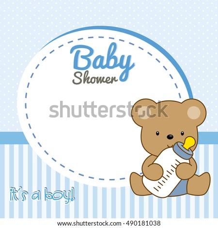 Baby Shower Boy. Frame Baby Bear