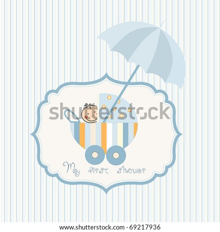 Baby shower umbrella stock photos illustrations and vector art