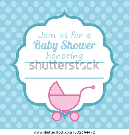 Baby Shower Card Template Stock Vector 502644487 - Shutterstock