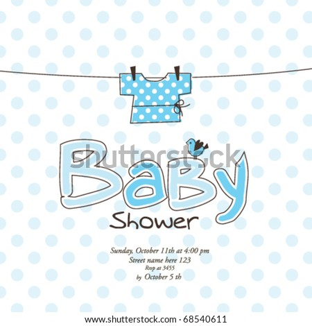 Baby Shower Card Template Stock Vector   Shutterstock