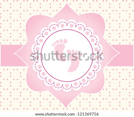 Baby shower card/Vector illustration