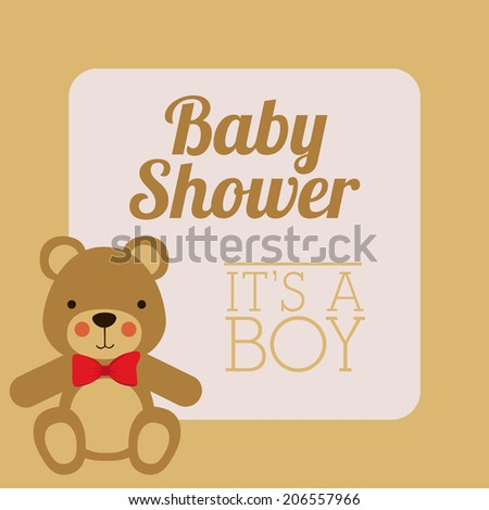 baby shower design vector illustration eps10 graphic cute bear baby