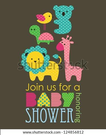 baby shower design. vector illustration - stock vector