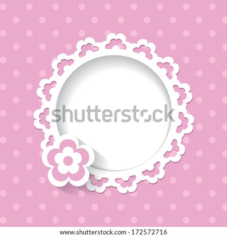 baby shower for a girl (a seamless lace and a pattern are included in the palettes) - stock vector