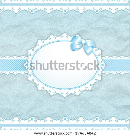 Baby shower for boy blue pastel tones vector eps10 - stock vector